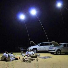 Télescopique COB Rod LED pêche en plein air Camping lanterne DC12V 48W plage lumière lampe randonnée BBQ 3 niveaux luminosité réglable