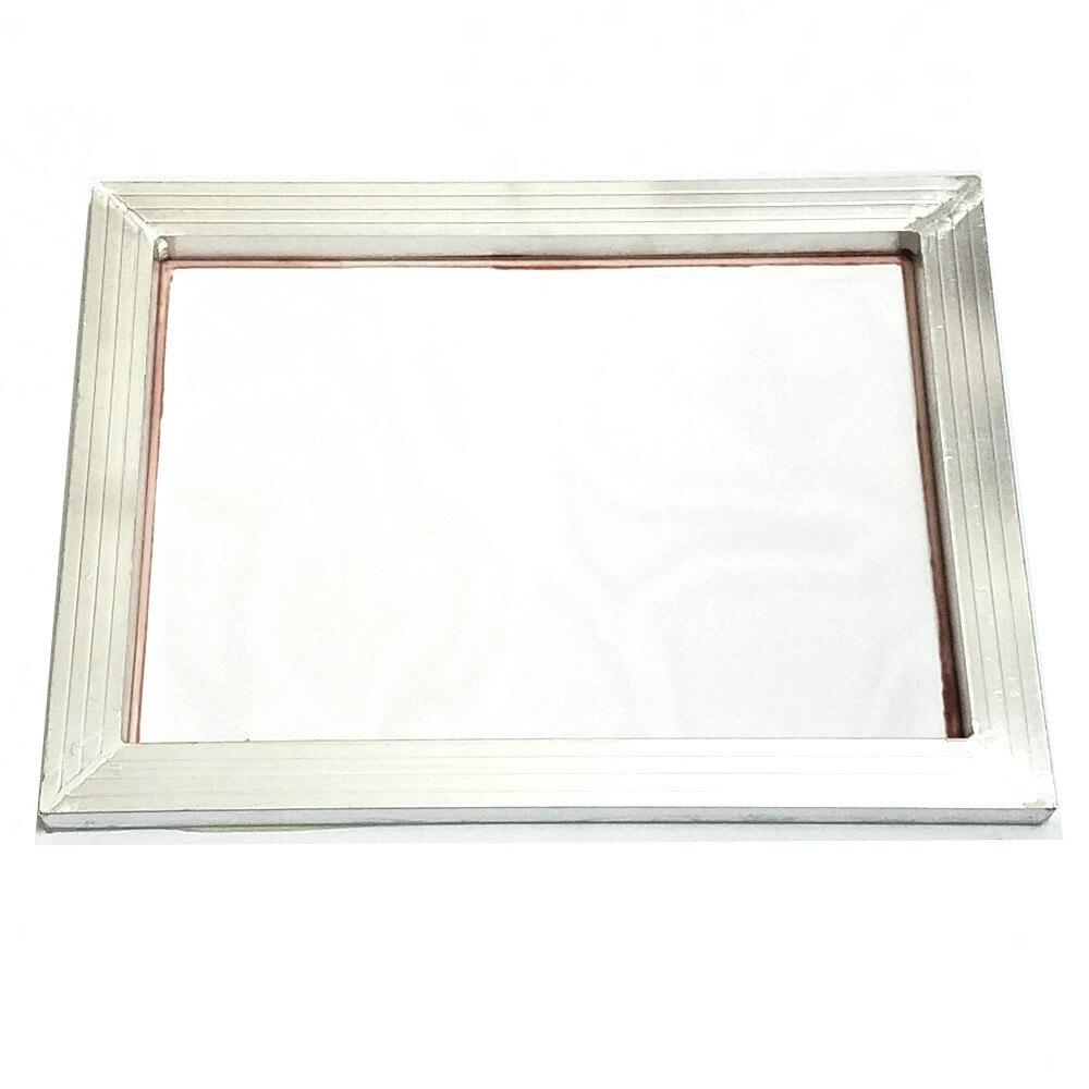 O quadro de alumínio da impressão da tela de 1 pc esticou 41cm * 51cm com a malha de seda branca do poliéster da cópia de 32 t-120 t para placas de circuito impresso