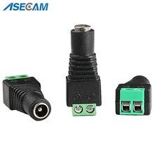 Prise cc femelle câble dalimentation prise connecteur adaptateur 5.5*2.1mm pour LED bande lumineuse pour système de caméra de vidéosurveillance
