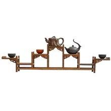 Ming and Qing-meuble en bois dacajou   wenge, étagère à cinq marches de hauteur, théière antique, cadre pivotant, magasins dusine