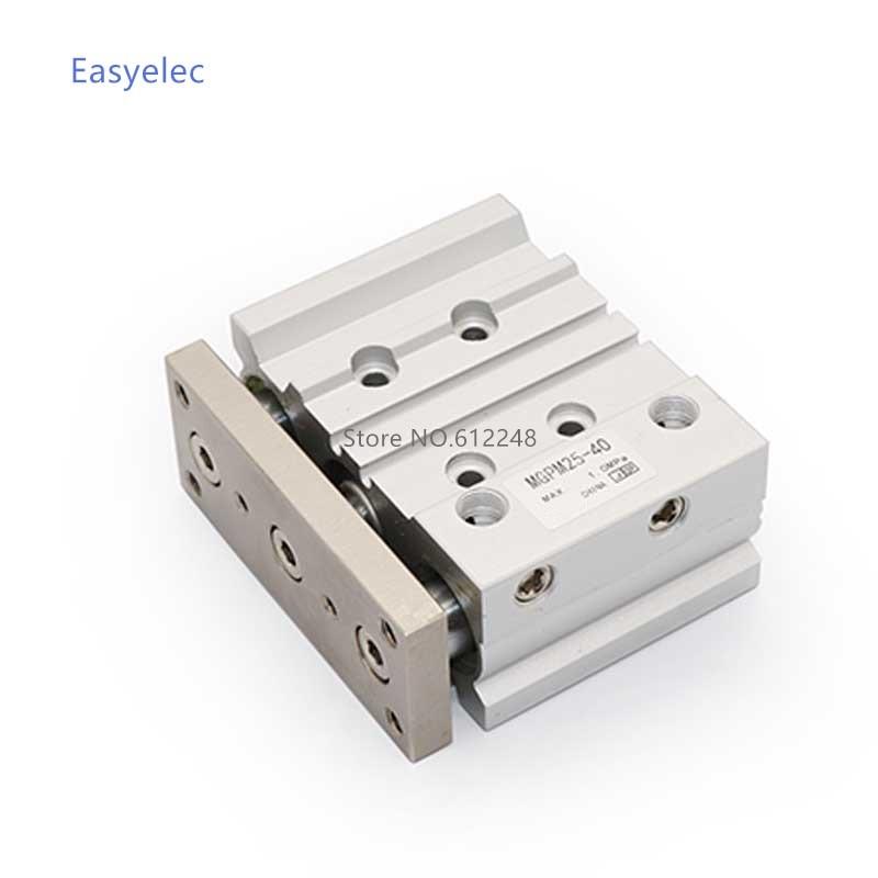 Cilindro de aire neumático compacto MGPM/MGPL MGPM20 MGPL20 75-125 con cilindro de barra guía MGPM20-75 MGPM20-100 MGPM20-125