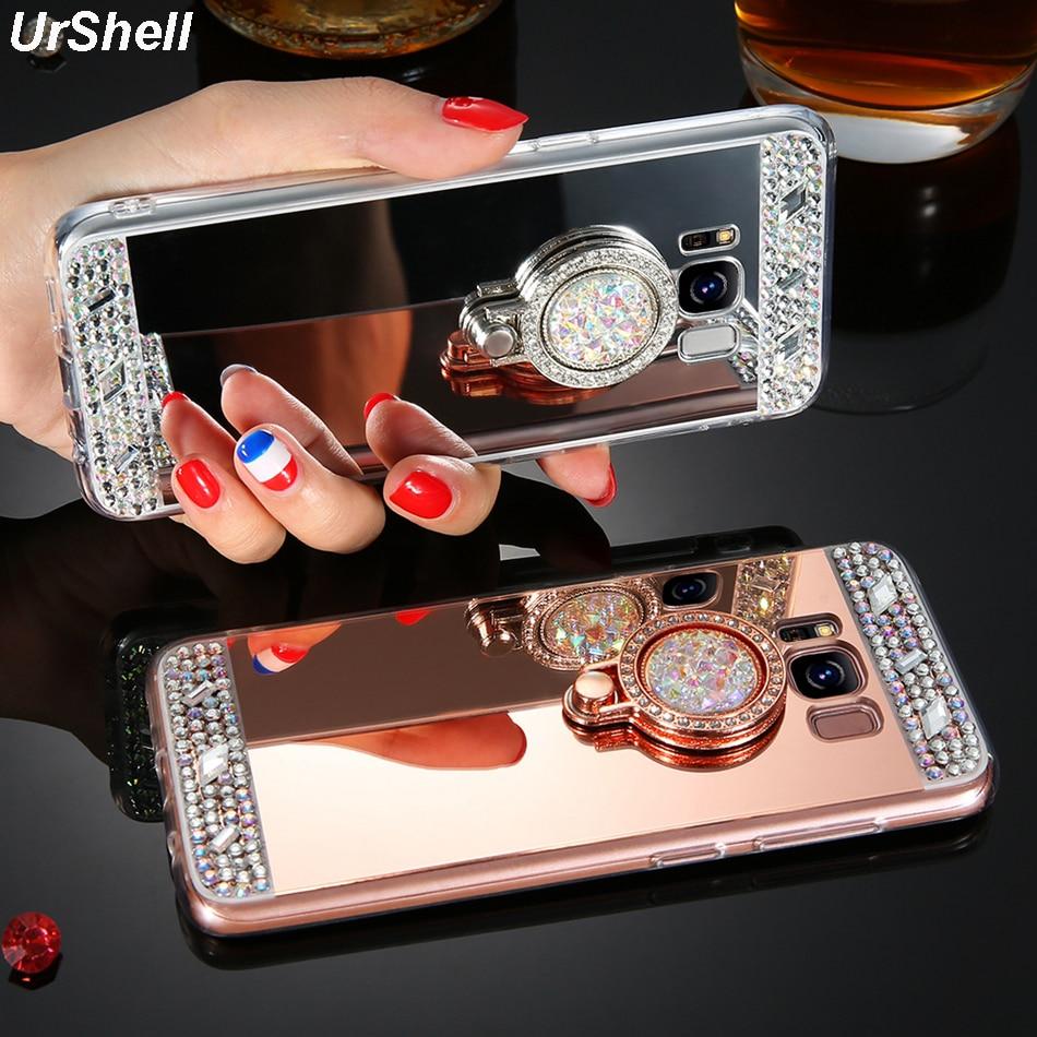Для samsung S20 Ultra S10 S9 S8 Plus S10E Note 10 Plus 9 8 A3 A5 A7 J3 J5 J7 2017 J4 J6 A8 Plus 2018 чехлы с бриллиантовым кольцом