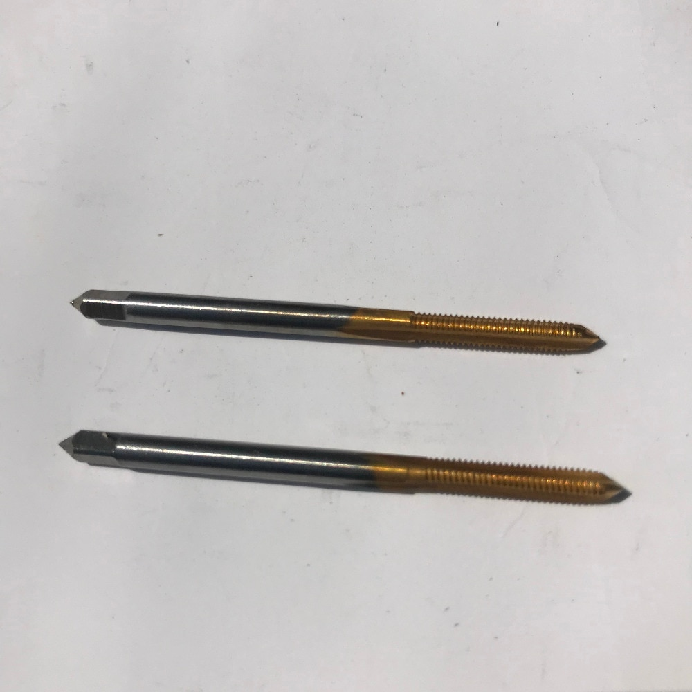 Envío gratis de 2 piezas HSS6542 hecho M2-M6 completo CNC molinillo de estaño máquina de recubrimiento de flauta recta grifos de tornillo para metal, tratamientos