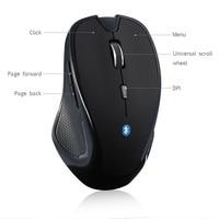 Беспроводная мышь 1600DPI, 6 кнопок, регулируемый приемник, оптическая компьютерная мышь BT 5,2 эргономичная mi c Mi ce для mi pad 4