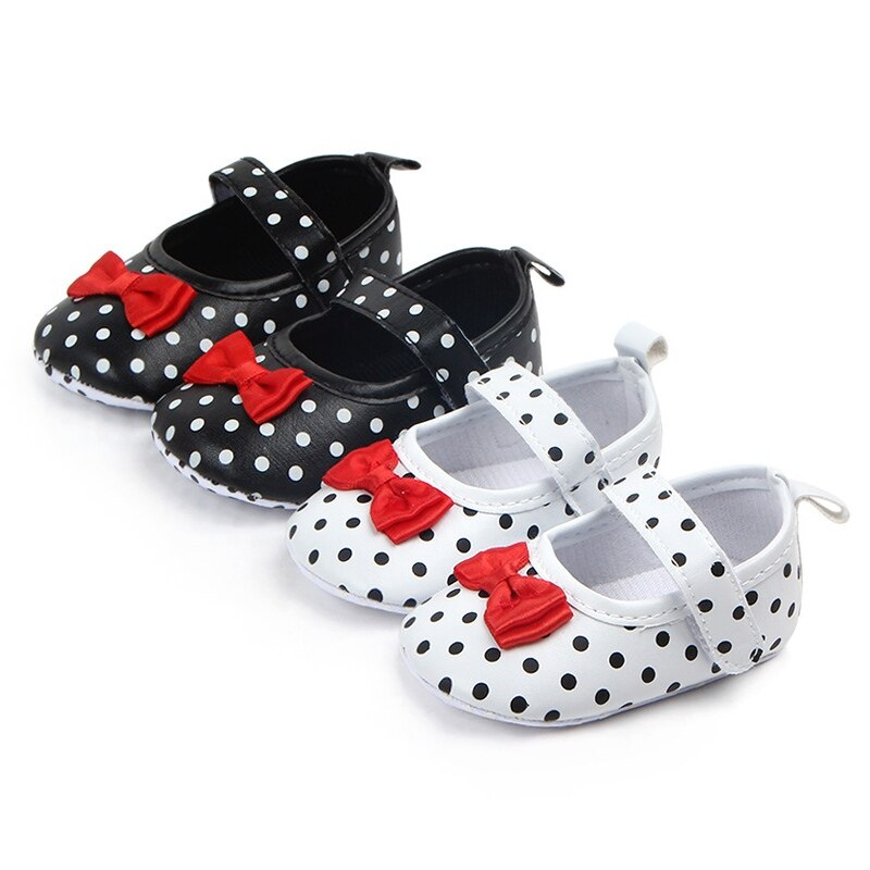 sweet pu baby girl shoes toddler infant anti slip polka dot pu first walkers shoes kids footwear shoes girls Sweet PU Baby Girl  Shoes Toddler Infant Anti-slip Polka Dot PU First Walkers Shoes Kids Footwear Shoes Girls