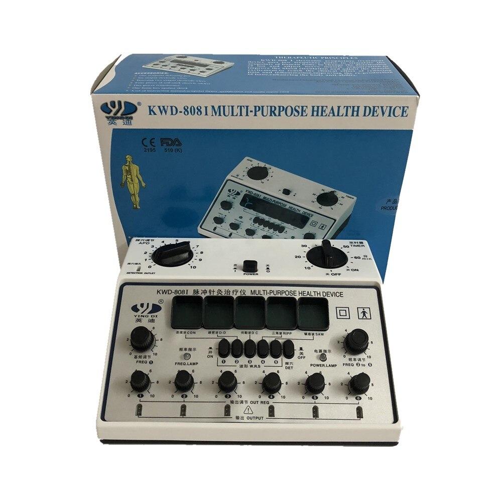 Yingdi multi-purpose dispositivo de saúde profissional elétrica acupuntura estimulador KWD808-I 6 canais saída dezenas massageador