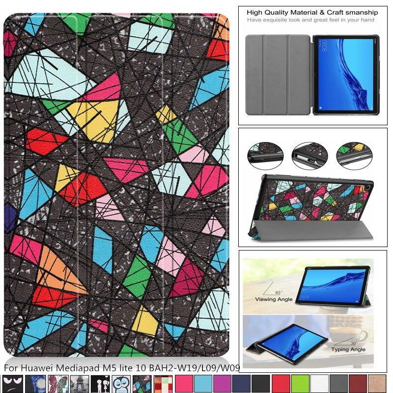 Capa para huawei mediapad m5 lite 10 estojo fino para huawei mediapad m5 lite 10 BAH2-W19/l09/w09 10.1 tablet tablet + filme