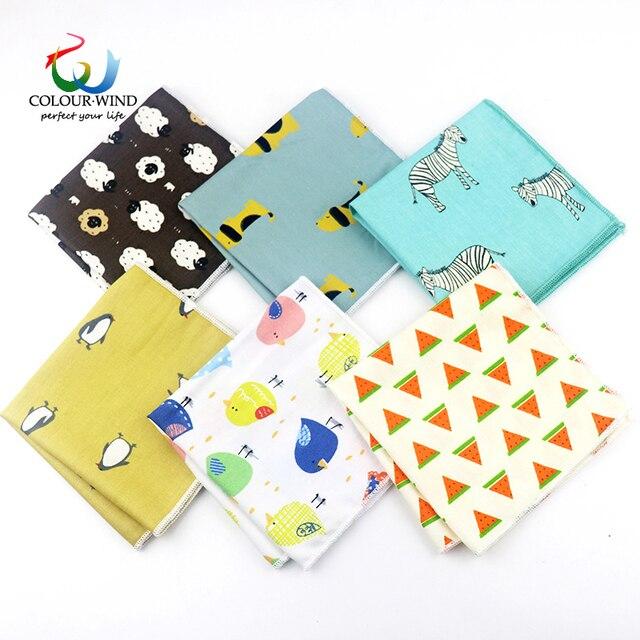 2019 Men's Top Cotton Pocket Square 22*22CM Penguin Lion Cat Printed Handmade Cartoon Handkerchief Elegant Fashion Men Tie Suit