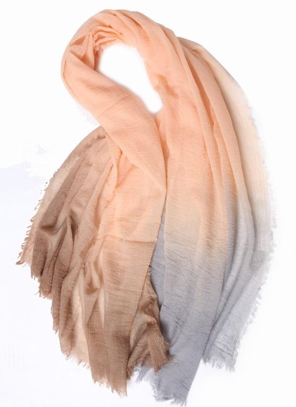 امبسوول نسائي متدرج اللون 100% شال باشمينا ضد التجاعيد 120 × 180 سنتيمتر 9 ألوان للبيع بالجملة بالتجزئة