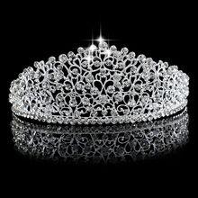 Beau Coroa brillant De Noiva tiare de Cristal Princesa Rainha bal concours Strass tiare bandeau Acessorio Do Cabelo