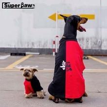 Mode Hund Sommer T-shirt Weste Kleidung Pet Puppy Hoodie Eltern-kind-Outfit Dober Teddy katze Für Kleine Große Hunde TLC01