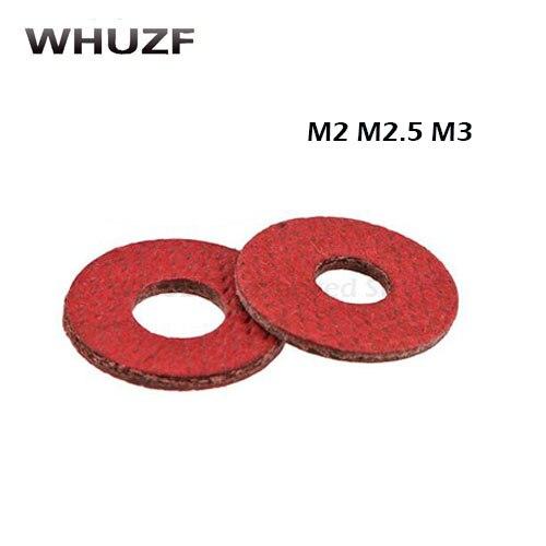Frete grátis 1000 pçs m2 m2.5 m3 plana almofada isolamento arruelas de papel vermelho meson junta espaçador isolamento espaçadores