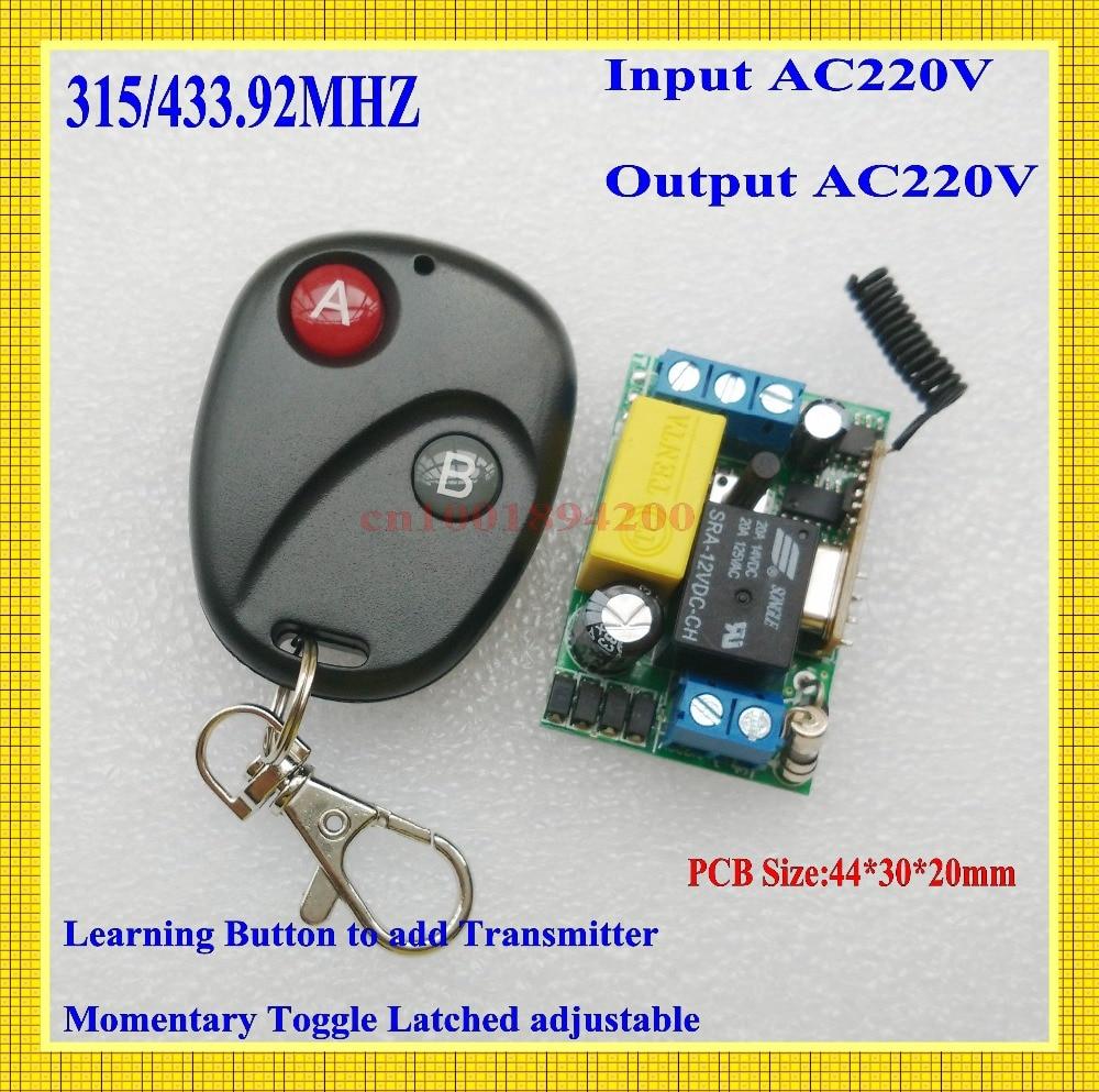 220 v mini interruptor remoto 315/433. 92 pedir suporte rf ampla * link rm2 rm-pro código de aprendizagem receptor luz lâmpada led power remote onoff