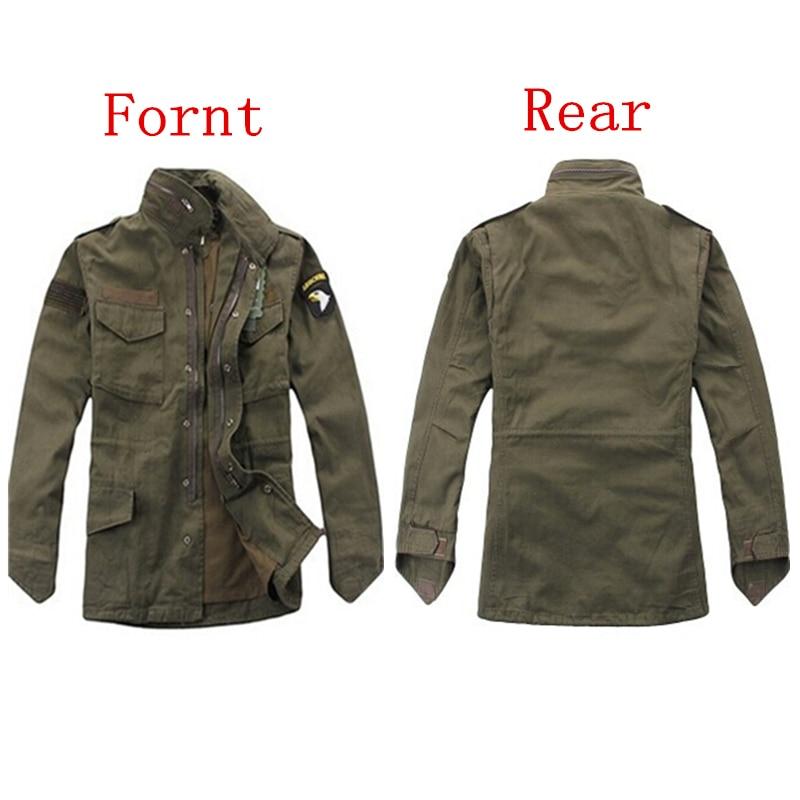 Chaqueta táctica militar para hombres, ventiladores del ejército, chaqueta cortavientos para exteriores M65, forro extraíble, División Aérea 101er