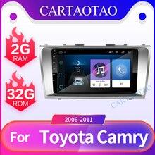 Android 8,1 auto radio multimedia-player für Toyota Camry 2006 2007 2008 2009 2010 2din Auto radio GPS navigation Bluetooth player
