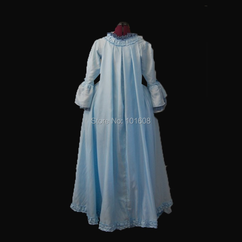 Tailored!Royal Eras Blue Taffeta Duchess 18th Gothic Theater medieval Renaissance Reenactment DRESS Victorian dresses HL-338