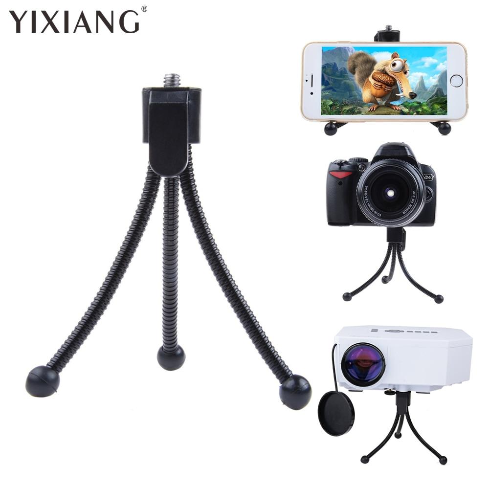 YIXIANG compacto Flexible Mini soporte de trípode de mesa para iPhone huawei xiaomi Samsung, BlackBerry cámara Digital mini proyector