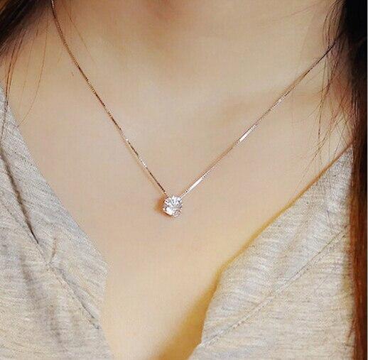 DreamySky Drop Shipping Silver Color  Jewelry Cubic Zircon CZ Necklaces Long Statement Necklaces Pendants For Women