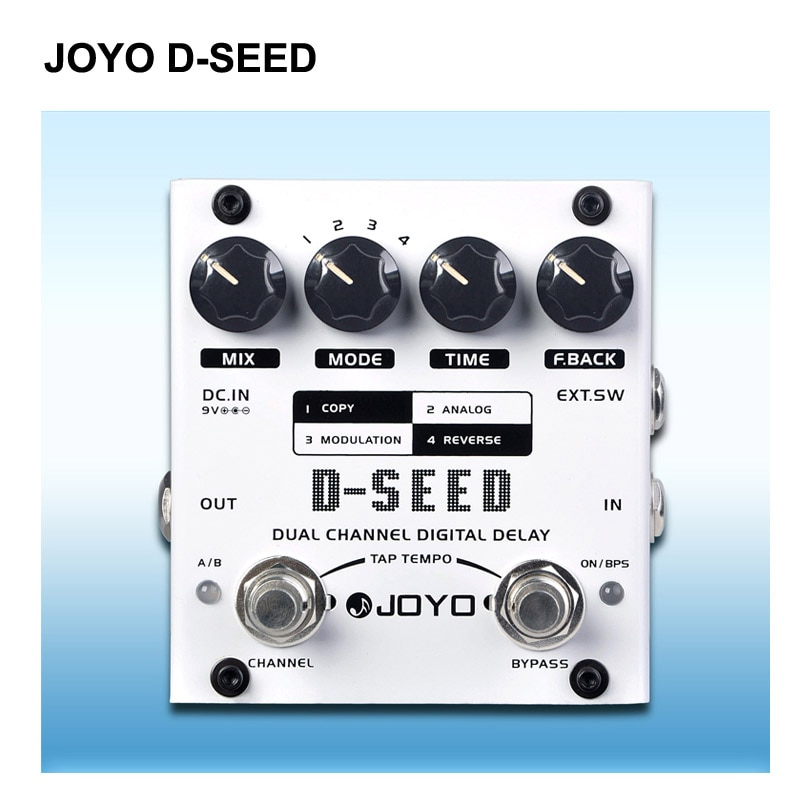 JOYO D-SEED Delay Guitar Effect Pedal delay effects guitarra stompbox Dual Channel Digital Delay True Bypass  - buy with discount