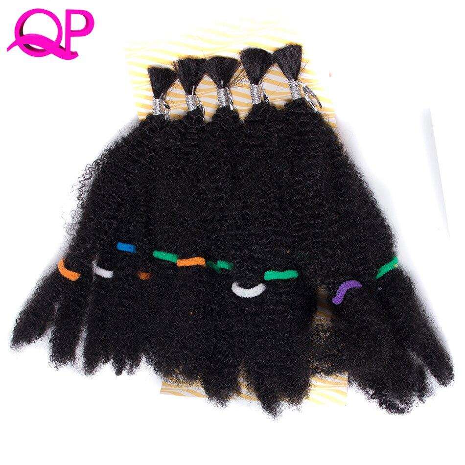 Qp Hair one pcs Synthetic Afro Kinky Twist Hair Crochet Braids Marley Hair  High Temperature Fiber Crochet Braiding Hair