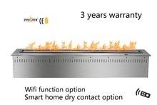 48 inch Remote control intelligent silver  or black etanolstainless steel fireplace frames