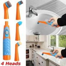 Nuevo cepillo de limpieza del hogar eléctrico Super depurador sónico de 26CM con 4 cabezales de Color al azar