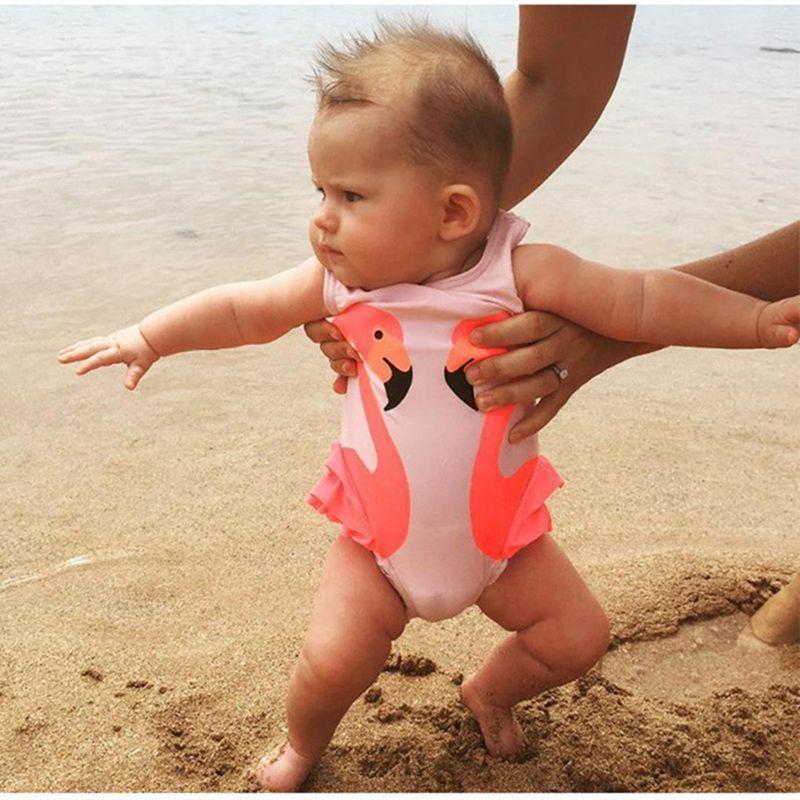 Фото Летнее Детское бикини в виде лебедя для маленьких девочек купальный костюм детей