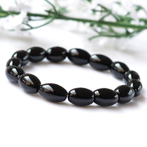 Natural Agate Beads Bracelet Fine GemStone Beaded Elastic Line Bracelet Men Jewelry Women Bracelet Can Drop Shipping