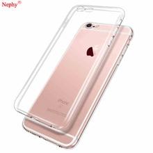 Yumuşak silikon şeffaf kılıfı iPhone XS Max XR X 6 S 6 S 4 4S 5 5S SE 5SE 7 8 artı 6 artı 7 artı 8 artı telefon TPU arka kapak konut