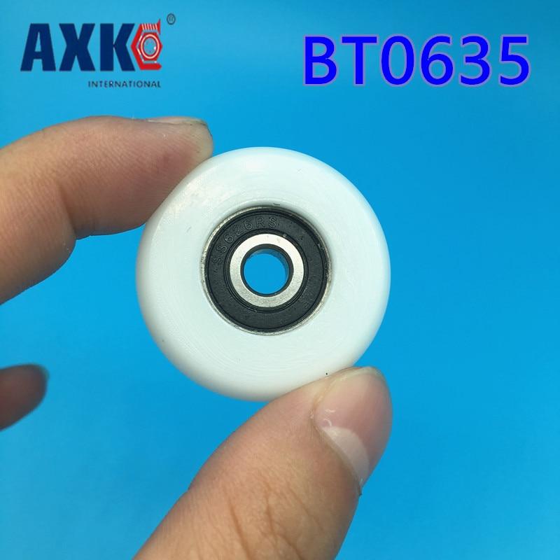 BT0635 SBT0635 626 2RS S626RS 626 عجلات بلاستيكية معلقة/تحمل الكرة مع عجلة بكرة للأبواب والنوافذ 6*35*11 ملم