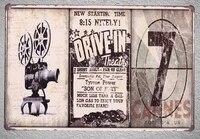 Plaque en fer blanc pour Film dart 7e  1 piece  decoration murale de la grotte de lhomme  affiche dart en metal vintage pour la maison