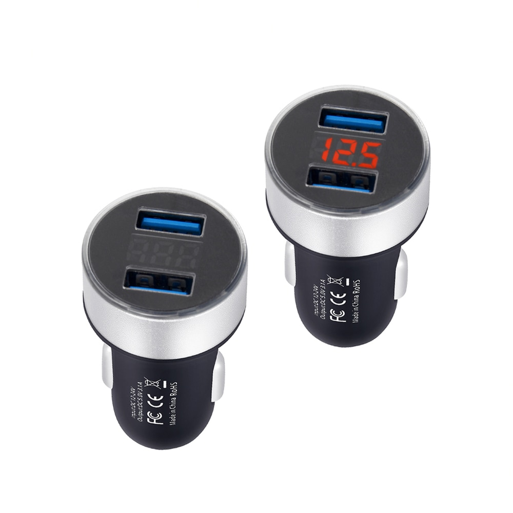 Dual USB 12 V-24 V 3.1A Handy Auto Ladegerät Adapter Led-anzeige Schnelle Lade für Samsung iPhone X XS Huawei Xiaomi Ladegerät