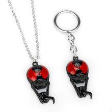 Fashion Avengers Venom Skull Mask Figure Keychain Keyrings Spider-Man Logo Necklaces Key Chain Women Men Jewelry Halloween Gift