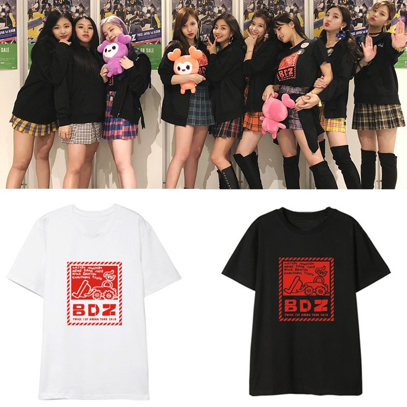 Duas vezes bdz concert t-shirts de manga curta mesmo masculino e feminino dropshipping