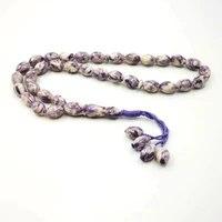 natural purple shell tasbih ramadan gift graceful rosary muslim prayer beads 33 beads tespih islam bracelet