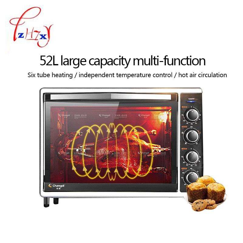 Eléctrica horno 52L de gran capacidad de 2000w profesional multifunción cocina máquina para pizza horno de pan máquina de CRTF52W 1pc