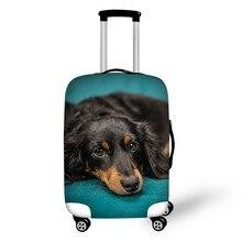 Противообрастающий пыленепроницаемый 3D чехол для чемодана с принтом собаки для 18-30 дюймов высокоэластичный тканевый защитный чехол для че...