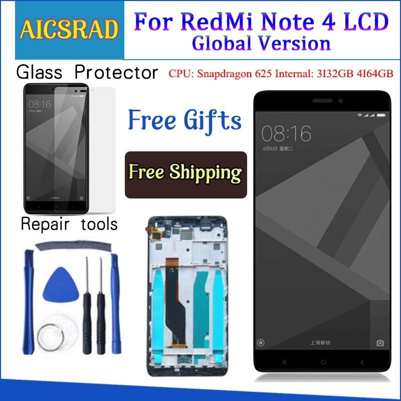 Test%C3%A9+%C3%A9cran+LCD+%2B+cadre+pour+Xiaomi+Redmi+Note+4+Version+globale+Snapdragon+625+%C3%A9cran+tactile+LCD+num%C3%A9riseur+Redmi+Note+4X