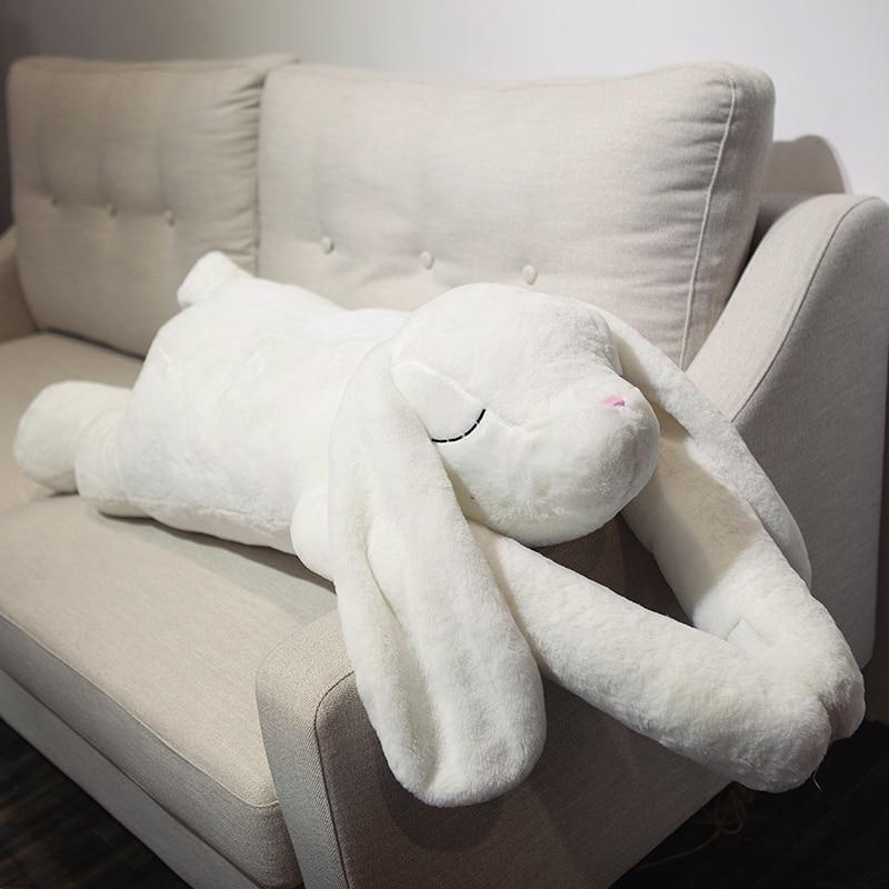 Coréia bonito macio orelhas grandes braço longo coelho coelho boneca de brinquedo de pelúcia bonecas almofada travesseiro para o presente do bebê deco 90 cm 120 cm DY50487