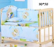 5 adet/takım Bebek Beşik Tampon Karikatür Tasarım % 100% Pamuk Bebek nevresim takımı Tampon çocuk Yatak Koruyucu Odası Dekor ZT19