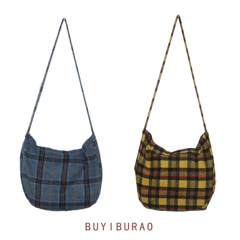 Sac bandoulière en laine Tartan sac bandoulière Eco Shopping sac fille CY 0840
