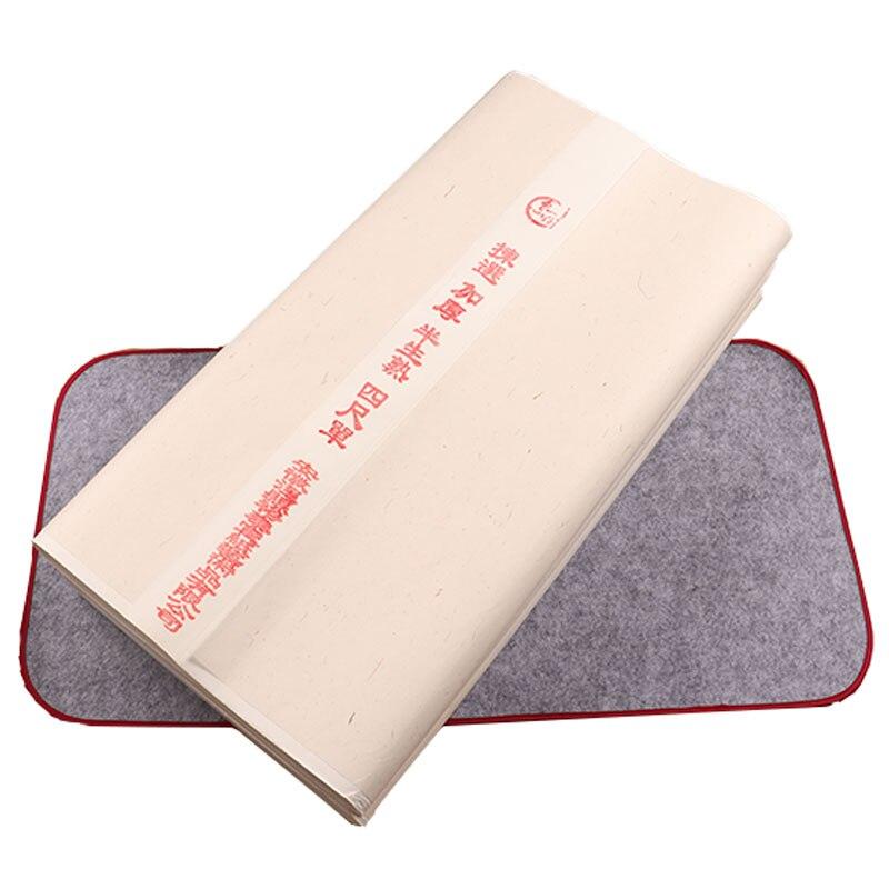 Рисовая бумага, полуспелая бумага Xuan, каллиграфия, обычная курсивная бумага для письма, сырая спелая бумага Xuan для китайской живописи черни...