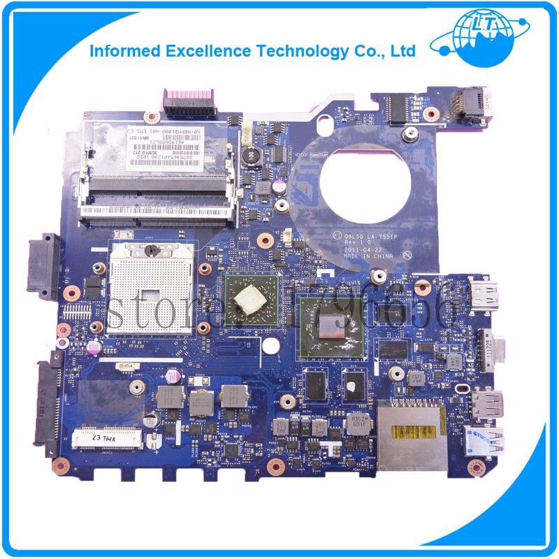 Venta caliente placa base QBL50 LA-7551P K43T K43TA K43TK portátil placa base 100% de trabajo