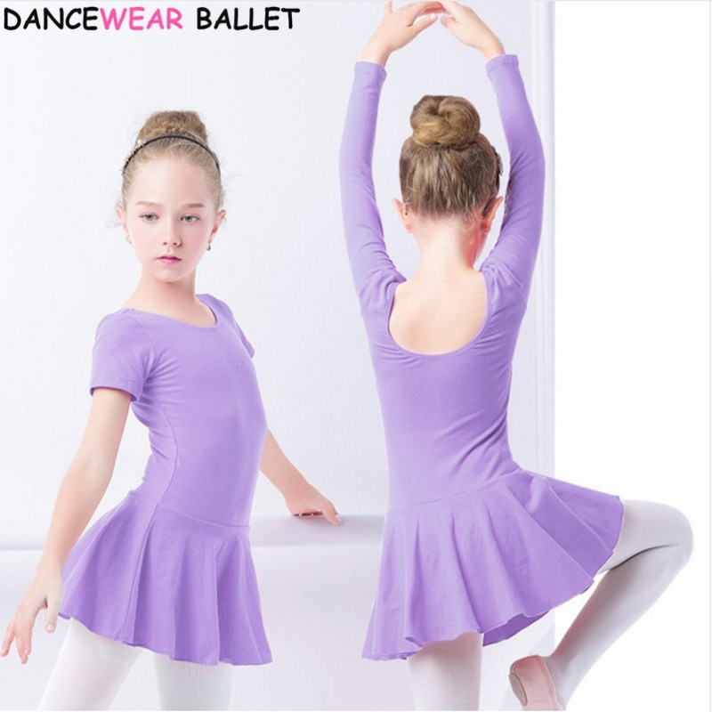 Cotton Ballet Dance Dress Toddler Girls Child Ballet Dance Clothes Kids Gymnastics Leotard Training Dancewear
