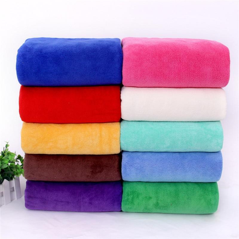 Toalla de baño de tela de microfibra de 17 colores 140*70CM 310g Toalla de playa supersuave gimnasio simple paño de secado rápido toallas de baño para adultos