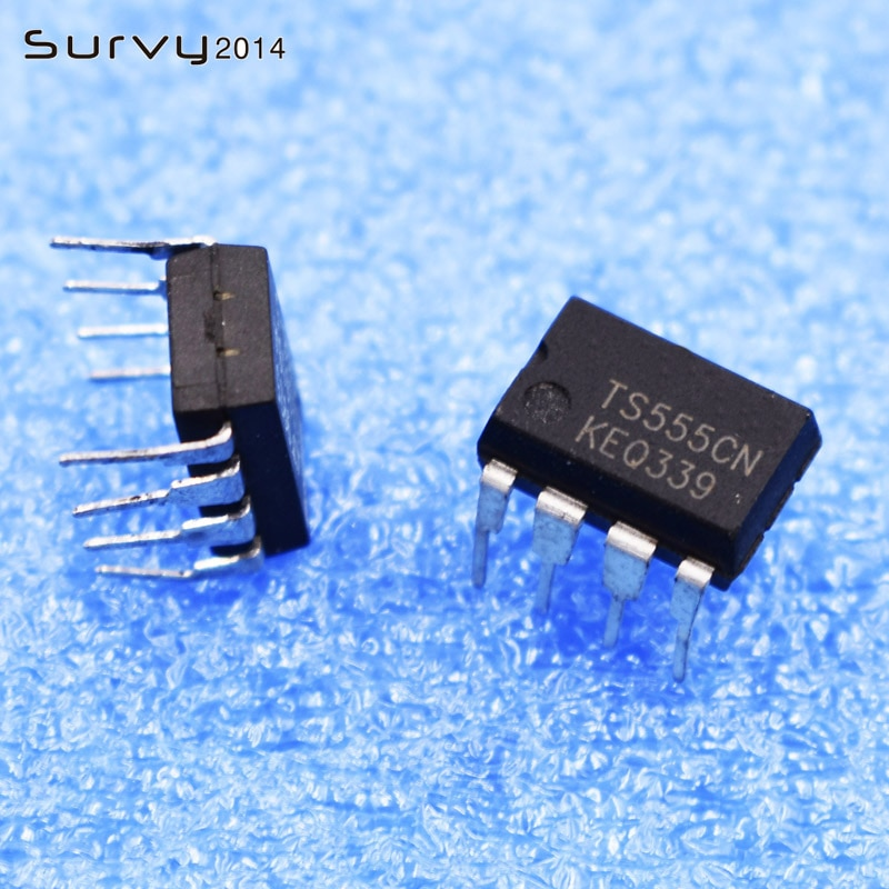 10 unidades/lote TS555CN TS555 TS555IN DIP8 555 IC