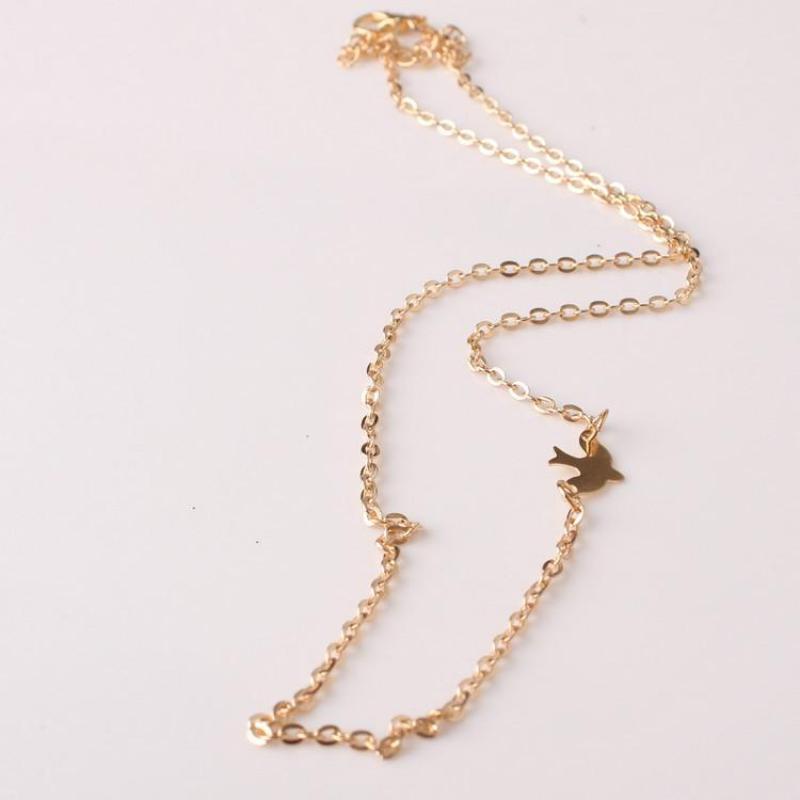 2016 collar de moda minimalista europeo y americano de oro caliente COLLAR COLGANTE mujer Doves gran regalo Maxi collar
