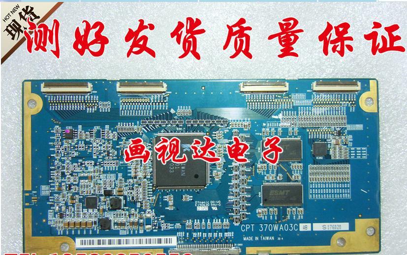 Original lc-37hu19 / claa370wa03sc placa lógica cpt 370wa03c ab conectar com T-CON conectar placa