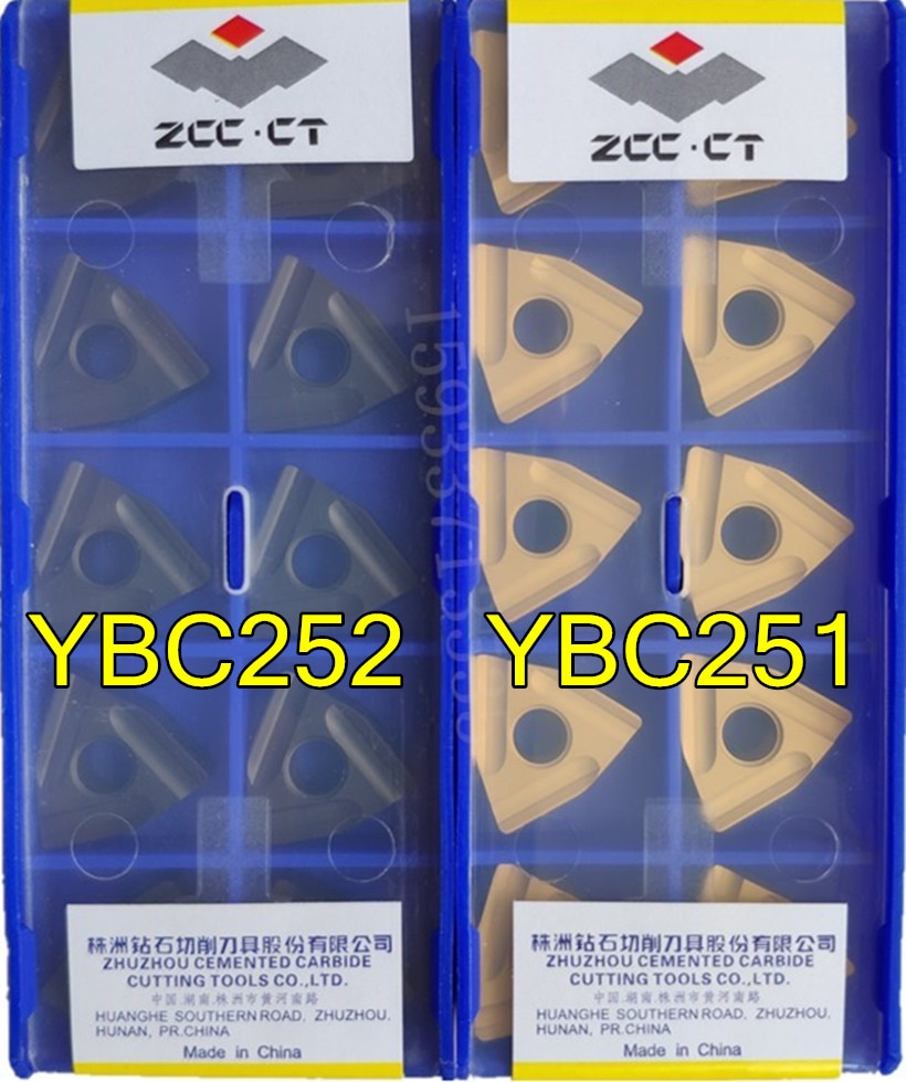 WNMG080404R WNMG080404L WNMG080408R WNMG080408L -ZC YBC251 YBC252 10 pçs/set Zcc.ct Carboneto inserir Frete grátis