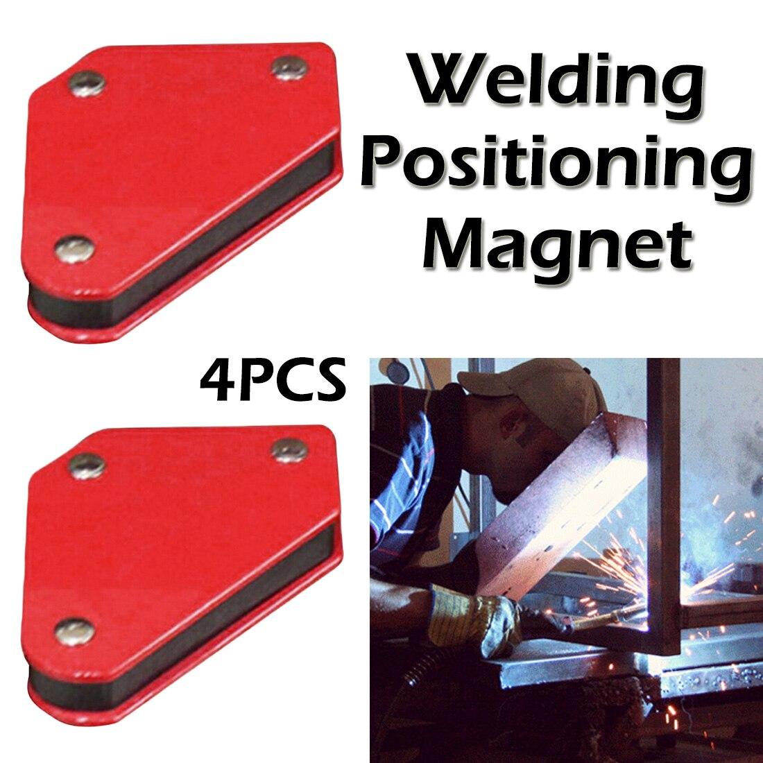 Triângulo posicionador de soldagem 4 pces 9lb magnético ângulo fixo ferramentas localizador de solda sem interruptor acessórios de soldagem